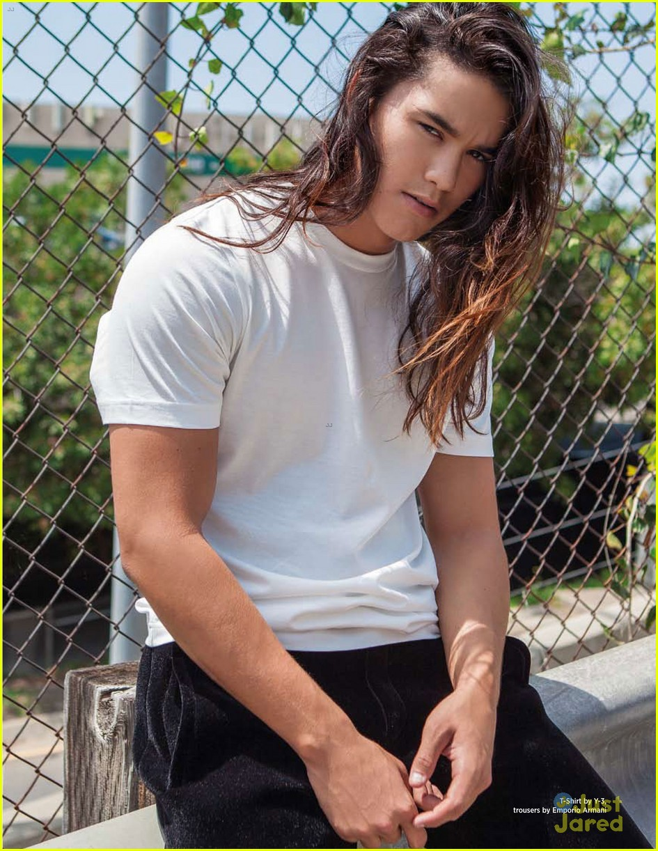Booboo Stewart Shows Off Shirtless Physique for 'Da Man ...