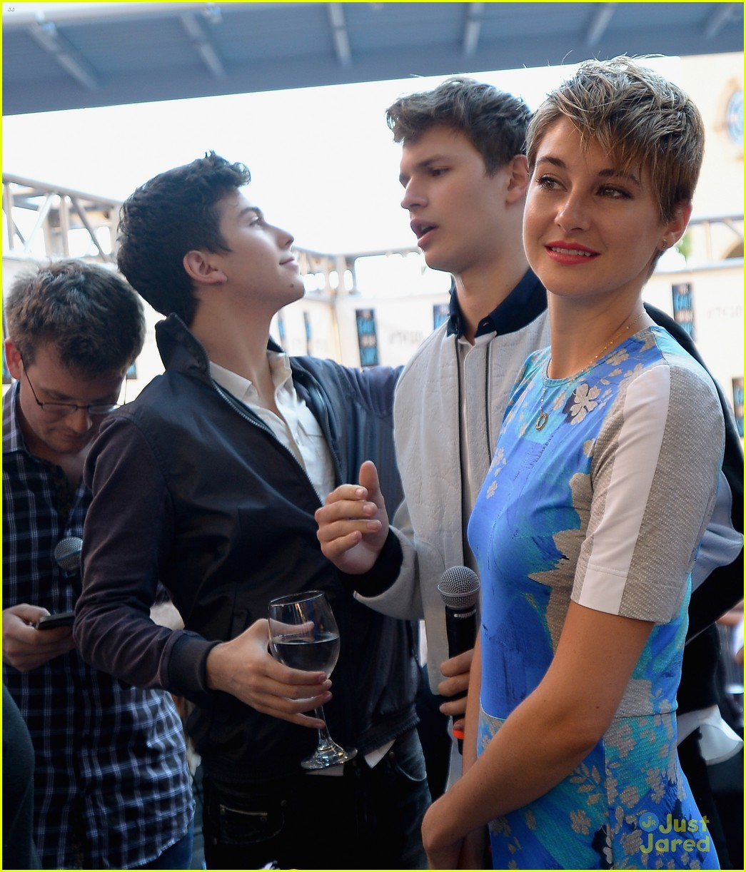 shailene woodley talks kissing divergent brother ansel