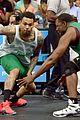 Justin-basket justin bieber chris brown bet celeb basketball game 25