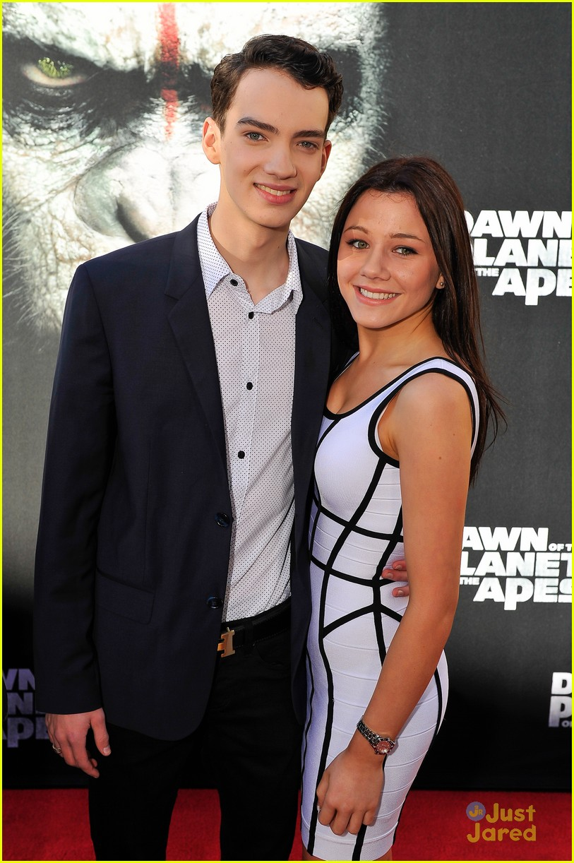 Photo of Kodi Smit-McPhee & his friend actress  Rebecca Phillipou -