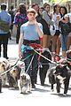 Dan-dog daniel radcliffe dog walker trainwreck nyc set 09