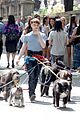 Dan-dog daniel radcliffe dog walker trainwreck nyc set 29
