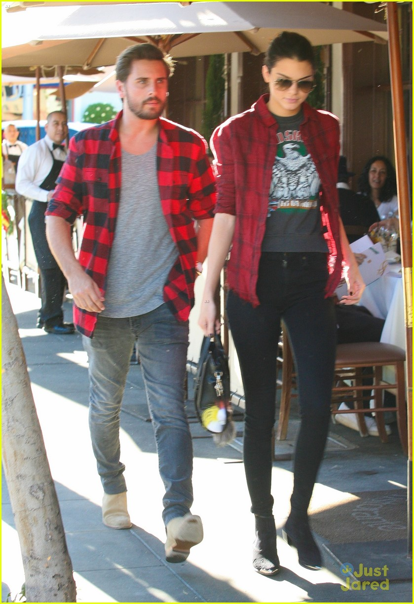 Kendall Jenner Scott Disick Wear Matching Red Flannel Shirts Photo 747412 Photo Gallery