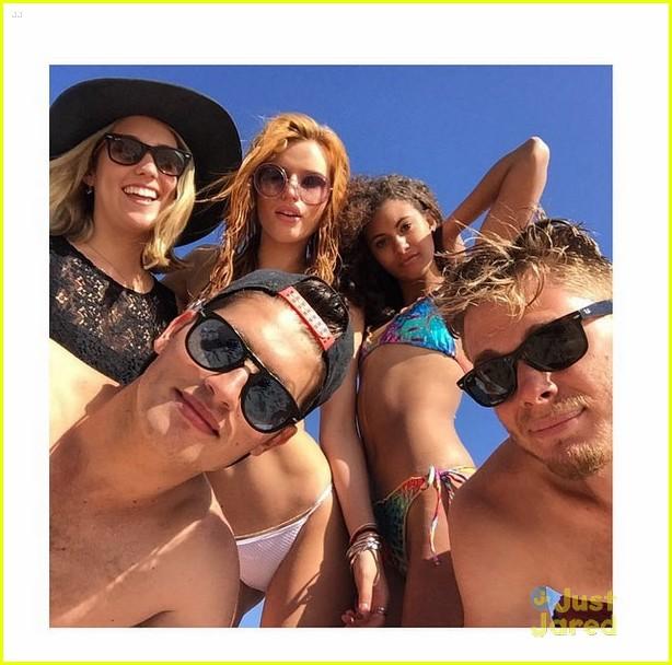 bella thorne gregg sulkin bikini shirtless beach 05