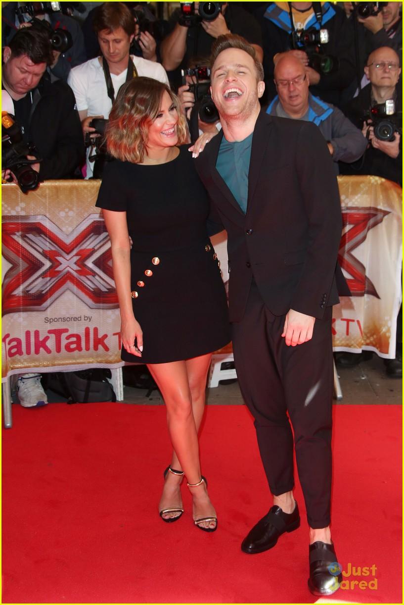Olly murs black t shirt x factor - Olly Murs Caroline Flack Press Launch Itv Stop Xfactor 04
