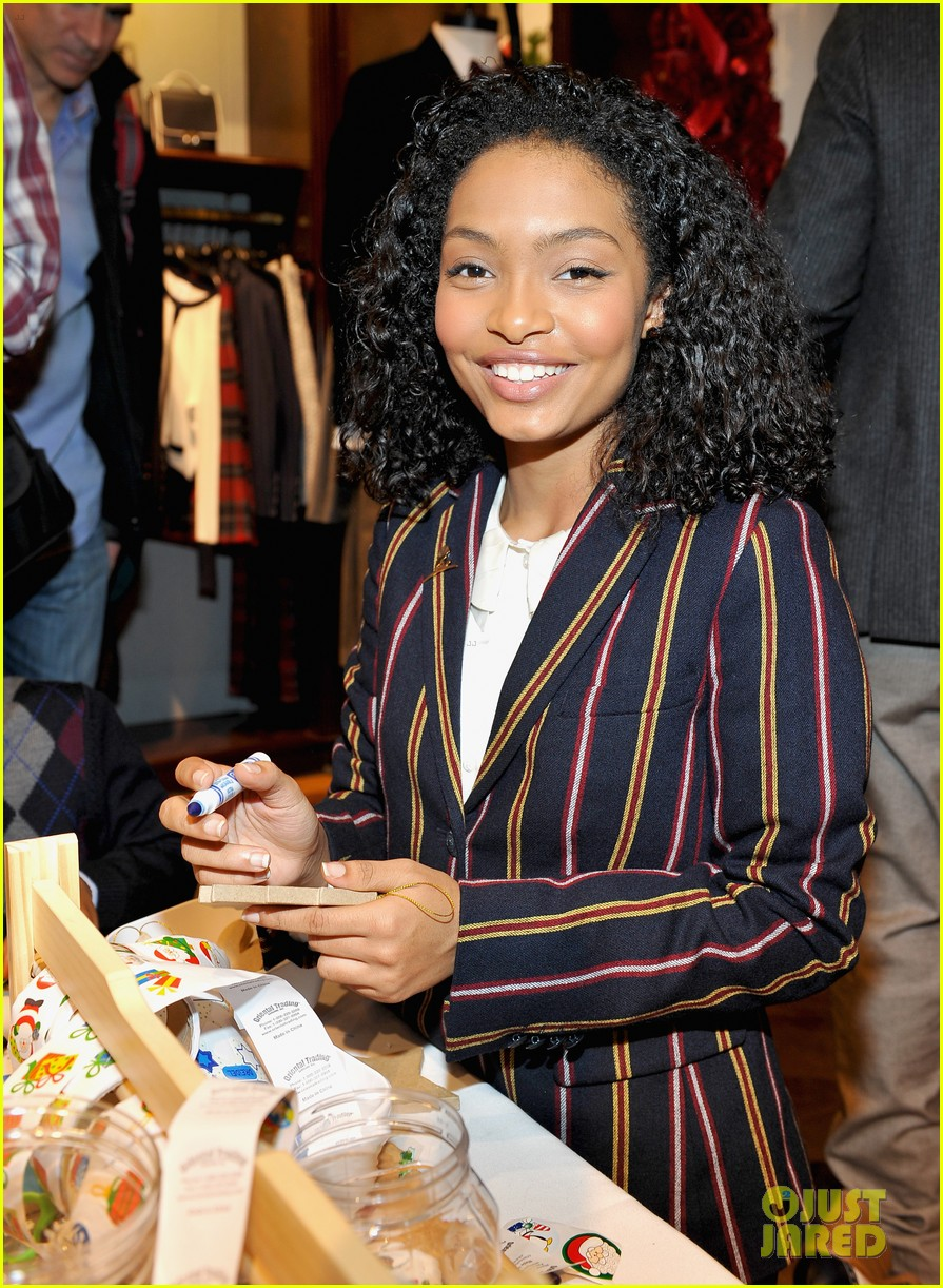 ashley tisdale yara shahidi more brooks brothers st jude holiday event 01