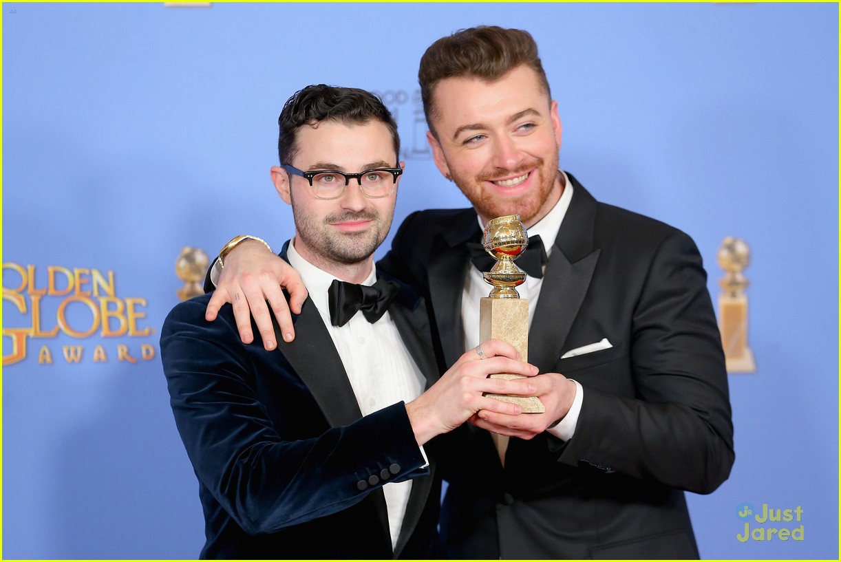 sam smith win best original song golden globes charlie congrats 01