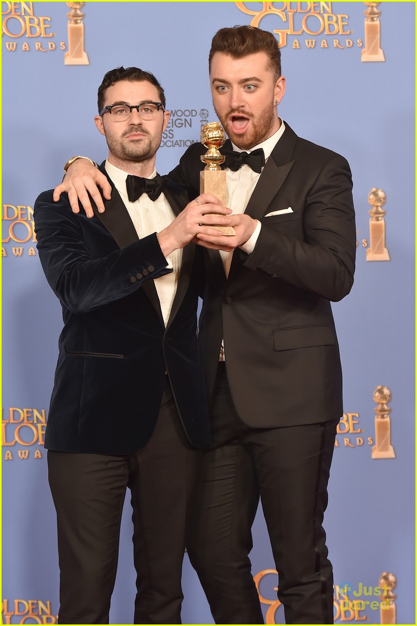 sam smith win best original song golden globes charlie congrats 02