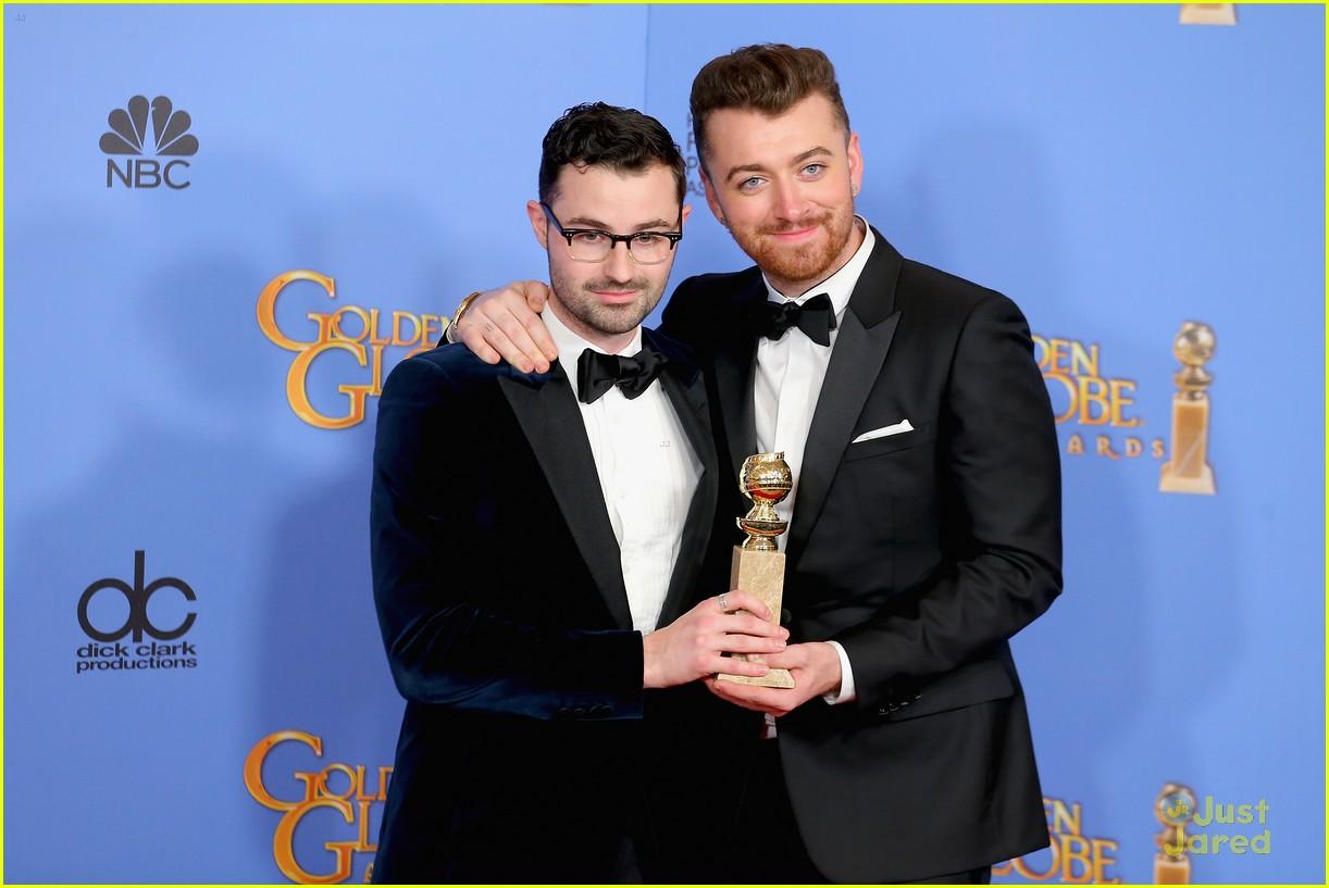 sam smith win best original song golden globes charlie congrats 04