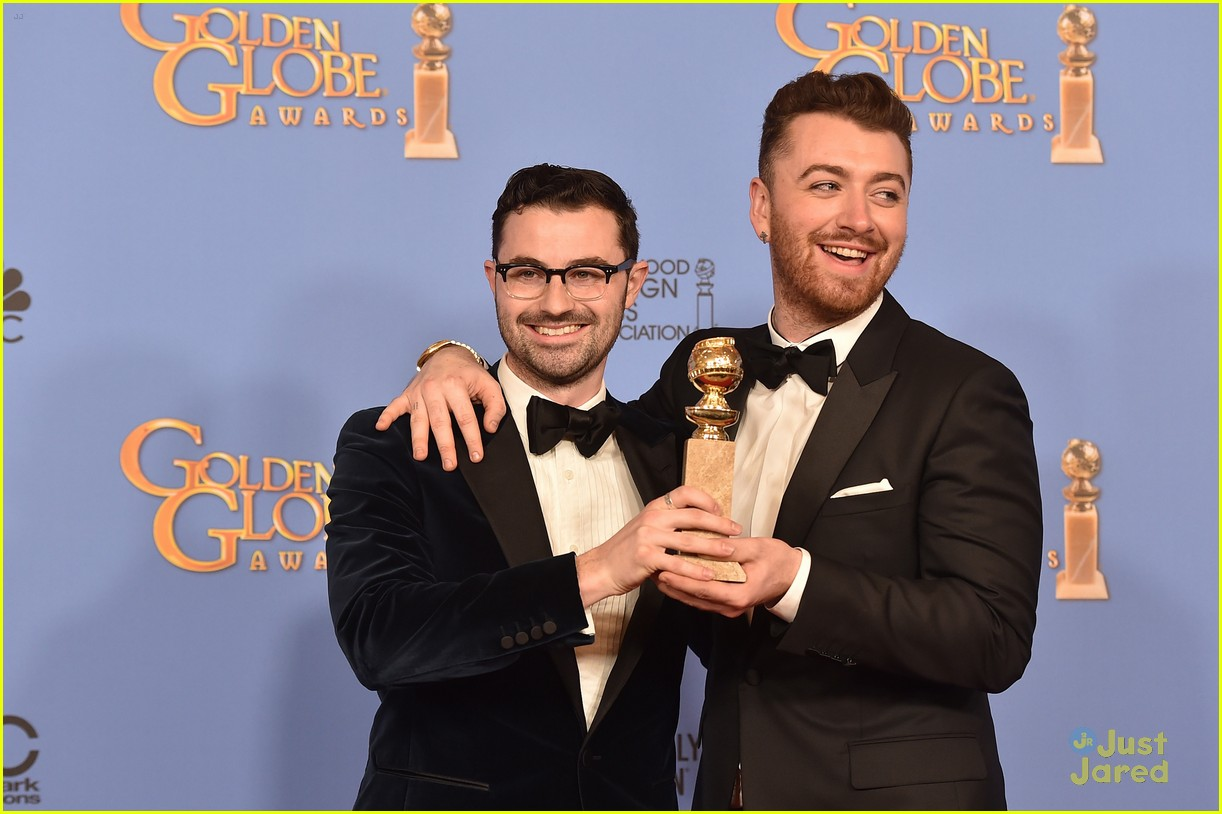 sam smith win best original song golden globes charlie congrats 05