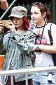 Lily-okja lily collins nose ring okja set filming 05