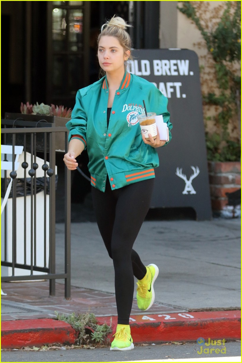ashley benson shares pll msgs norman charlie dolphins jacket 08