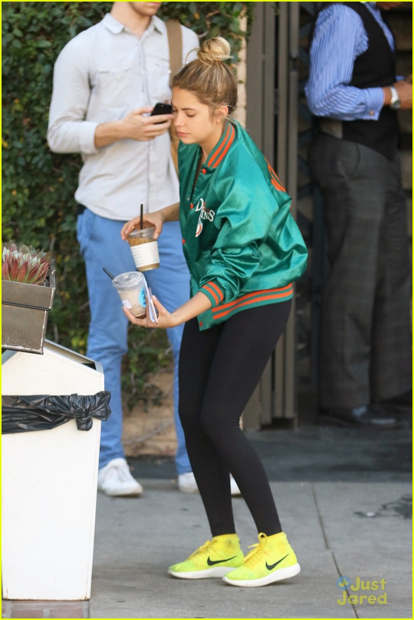 ashley benson shares pll msgs norman charlie dolphins jacket 16