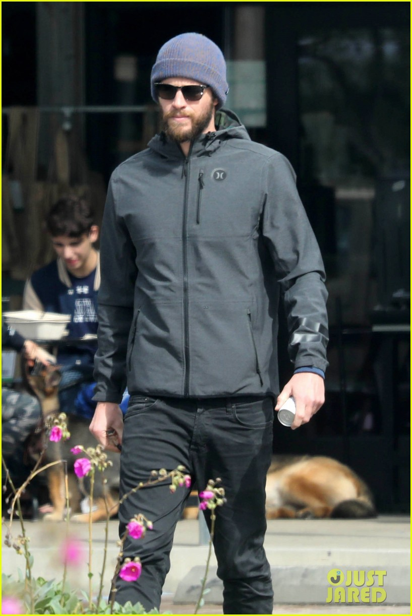 liam hemsworth and brother luke check out surf after socal storm 03