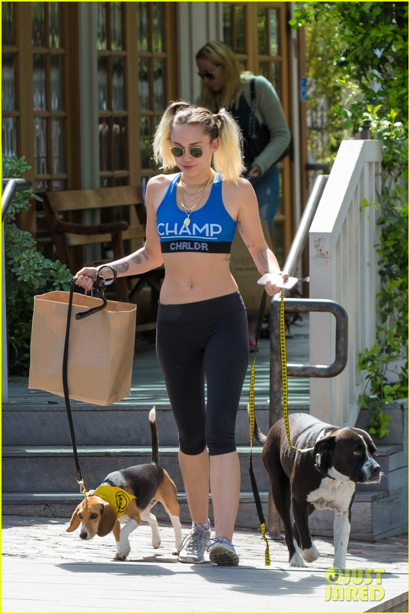 miley cyrus shows off toned abs in malibu 04