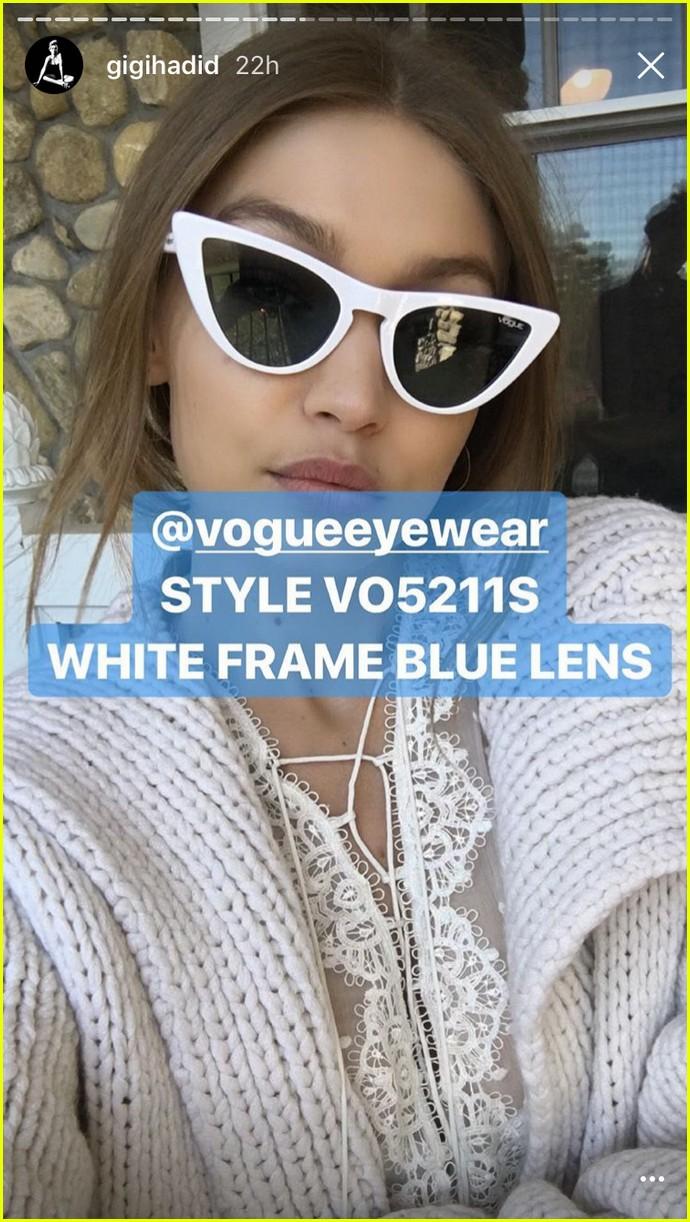 8f8320bcfd Vogue Eyewear Cat Eye Sunglasses By Gigi Hadid In Tort