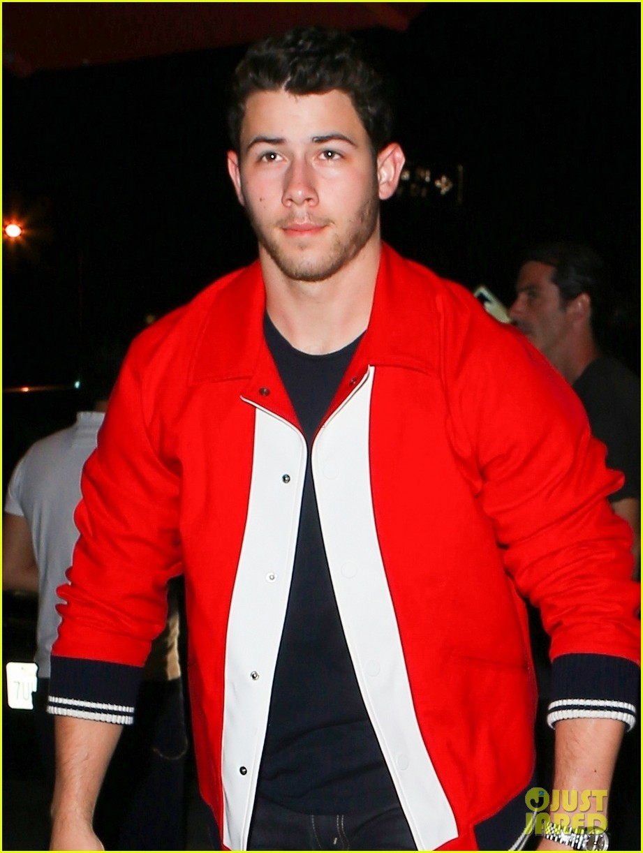 nick jonas good red hot at dinner in weho 02