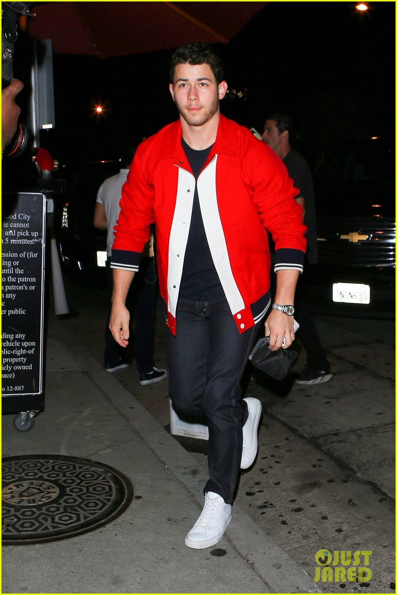 nick jonas good red hot at dinner in weho 05