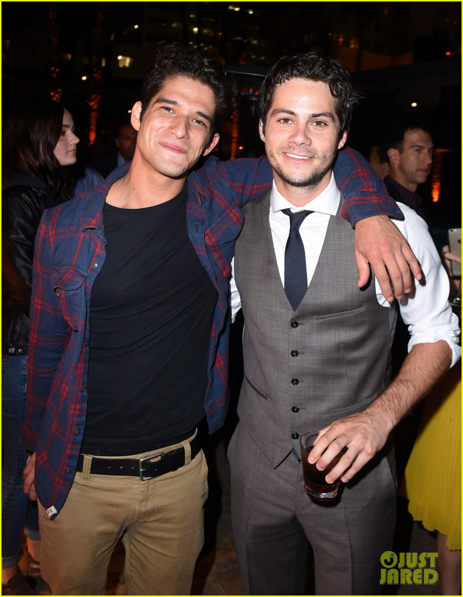 tyler posey supports dylan obrien at american assassin la premiere 01