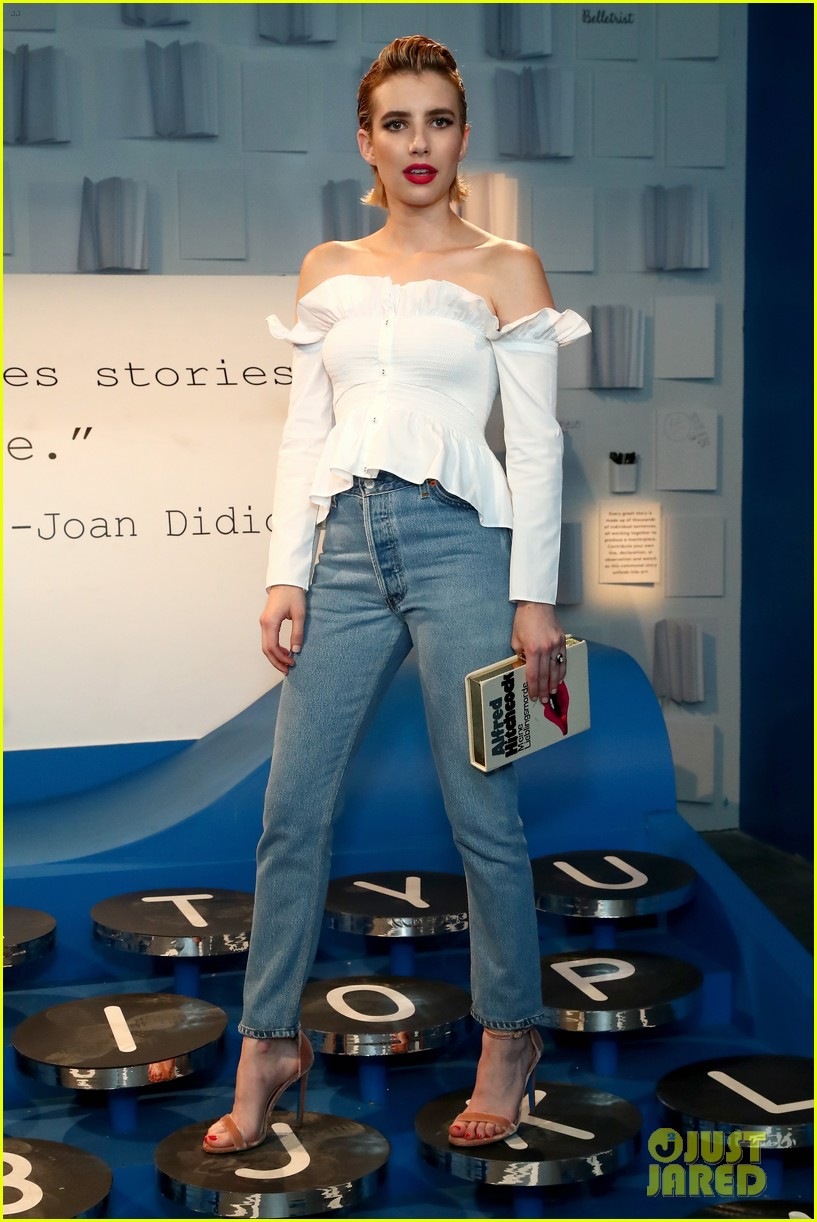 bella thorne emma roberts and ashley benson step out for 29rooms event 34