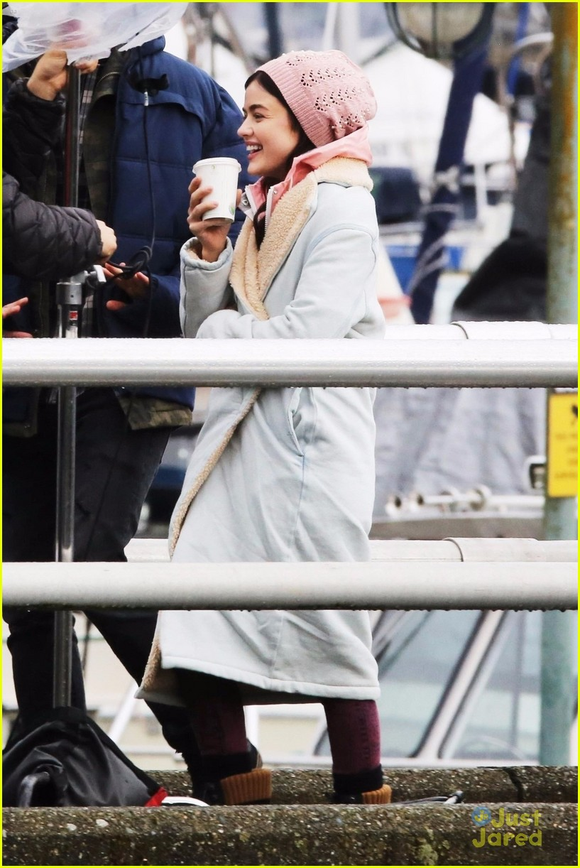 lucy hale jayson blair pick up life sentence filming 09