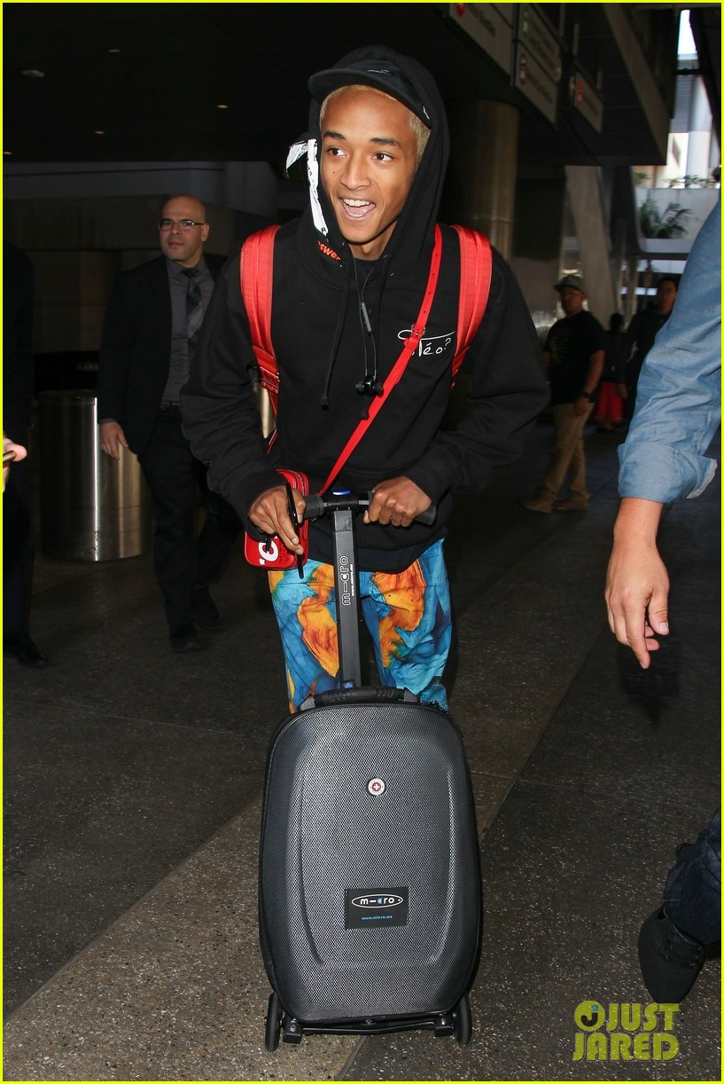 jaden smith scooters his way through paris and lax airports 12