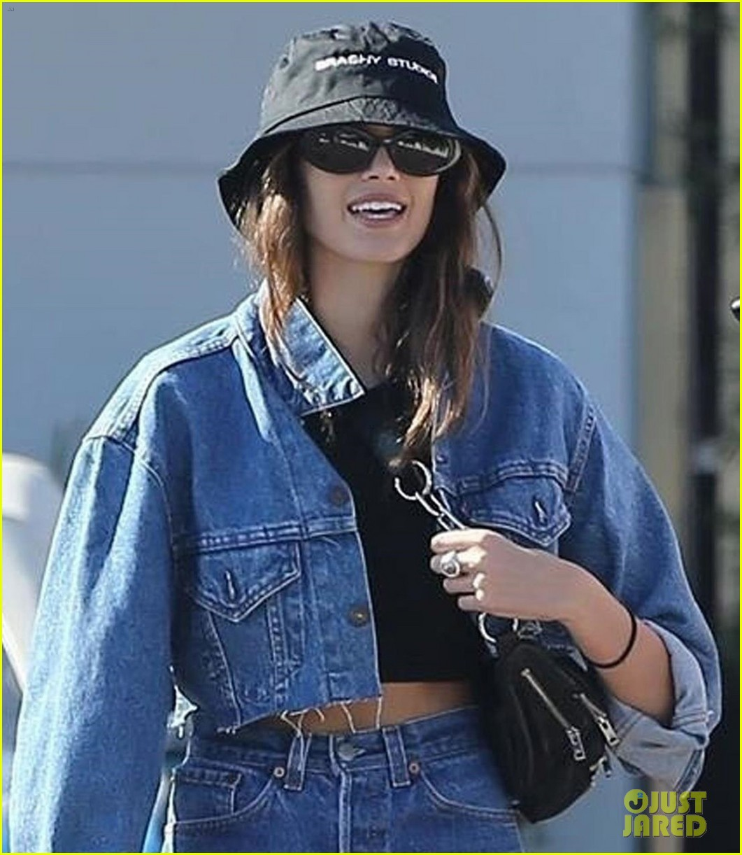 kaia gerber rocks double denim while out and about in malibu 03
