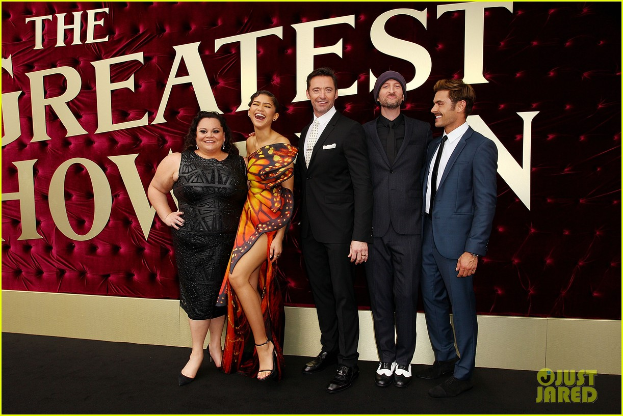 zac efron zendaya hugh jackman put on their best for greatest showman australian 02